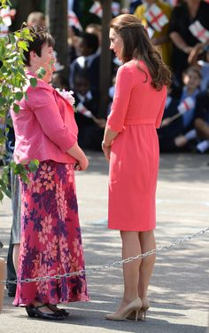 Kate Middleton: Duchess Of Cambridge Goes Curly In Coral Dress (PICTURES)
