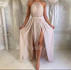 Simple chiffon long prom dress for teens, cute evening dress, modest prom dress long