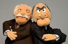 Statler and Waldorf - Classic Critics The Muppets were part of my childhood Saturday nights...still love the chickens and super grover and of course Kermie and Animal on the drums and so many more
