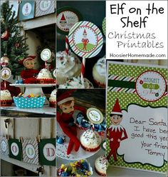 Naughty or Nice? FREE Elf on the Shelf Printables including Cupcake Toppers, Banner and Letter! Pin to your Christmas Board!