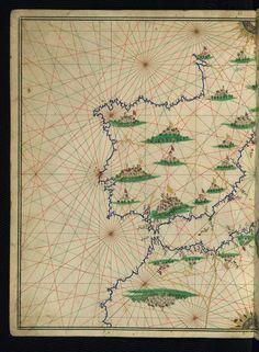 Illuminated Manuscript, Maritime atlas, Walters Art Museum Ms. W.660, fol.6a   Flickr - Photo Sharing!