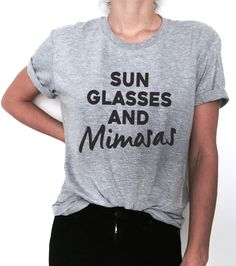 de486f9a7ff sun glasses and mimosas Tshirt tees funny gift idea ladies lady women  tumblr blog instagram summer top champagne