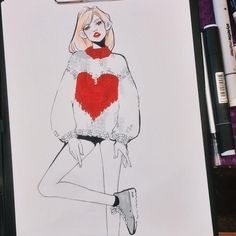 """3,430 curtidas, 8 comentários - Diana Volonskaya 🐰 (@life_is_mmm) no Instagram: """"❤️ классные свитерочки еще успею порисовать пока дубак на улице 😤"""""""