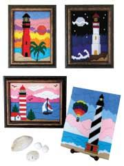 Long stich paterns of lighthouses for plastic canvas. These look like fun and so pretty too!