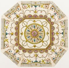 Design of a ceiling for Lady Coventry's octagonal dressing room at Coventry House.