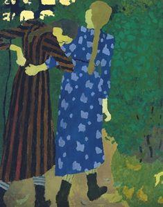 Fillettes se promenant, (Young Girls Walking), 1891 by Edouard Vuillard on Curiator, the world's biggest collaborative art collection. Maurice Denis, Edouard Vuillard, Paul Gauguin, Avant Garde Artists, Post Impressionism, Equine Art, French Artists, Of Wallpaper, Art Plastique