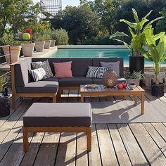 Cocoon Garden - Canapés, Fauteuils de jardin-Meubles de jardin Salon de jardin en acacia 5 éléments