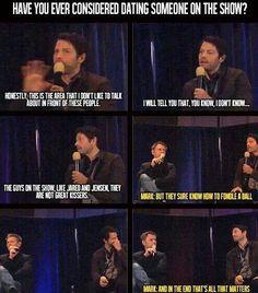 Lol omfg Mark ur hilarious! And Misha awww his face dough!