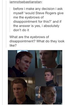 Eyebrows of disappointment