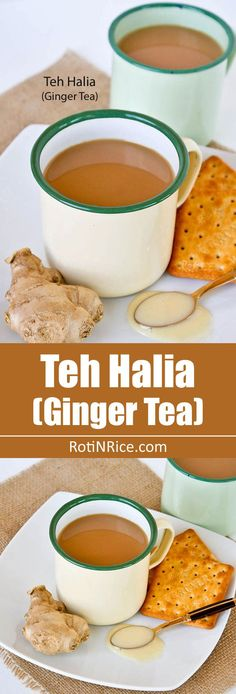 This comforting Teh Halia (Ginger Tea) with condensed milk will surely warm you up on chilly days. The ginger flavor can be as light or strong as desired. | http://RotiNRice.com
