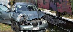 Πιερία: Ξάνθη: Ι.Χ. συγκρούστηκε με τρένο - Σώθηκαν από θα... Kai, Vehicles, Car, Vehicle, Chicken, Tools