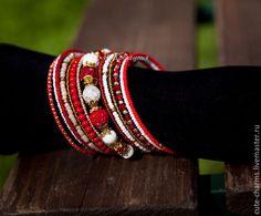 """Купить """"Ассоль"""". Мемори-браслет с натуральным камнем и бисером - браслеты с камнями, поделочные камни"""