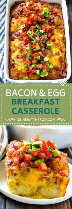 Breakfast Casserole with Bacon Recipe | Breakfast Casserole Recipe | Bacon and Egg Casserole | Egg Casserole | Easy Breakfast Recipe