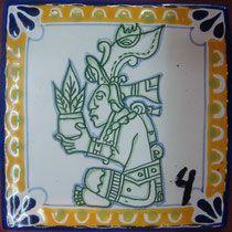 Azulejo Talavera de Puebla Modelo No.4 http://www.rusticosartesanales.com
