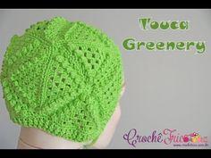 Touca Greenery - Versão Destras - Professora Ivy (Crochê Tricô) - YouTube