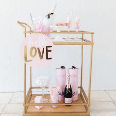 valentine's bar cart by Fashionable Hostess on Martha Stewart