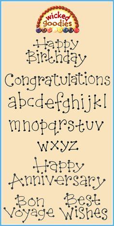 Printable templates for chocolate cake writing in a wonky font including the uppercase and lowercase alphabet, Happy Birthday, Happy Anniversary, Congratulations, Best Wishes and Bon Voyage Cake Lettering, Creative Lettering, Doodle Lettering, Typography, Chocolate Art, Chocolate Letters, Cake Decorating Techniques, Cake Decorating Tips, Decorated Cookies
