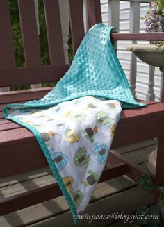 Here is a quick and easy project that is sure to be a favorite with the little ones. Featuring Soft N Comfy fabric from JoAnn Fabrics...