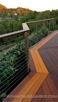 Did you know that we carry the highest quality cable railing? See how the Atlantis Cable Railing will give your deck a five-star, high-end look without the high price tag! #deck #design #outdoors