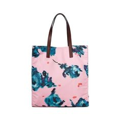 Marc Jacobs B.Y.O.T. Brocade Floral Tote (260 CAD) ❤ liked on Polyvore featuring bags, handbags, tote bags, pink, floral tote, pink handbags, lightweight tote bag, pink tote purse and tote purses