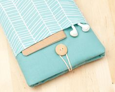 ipad mini sleeve / ipad mini case / ipad mini cover - sea lines with pockets - on Etsy, $24.50
