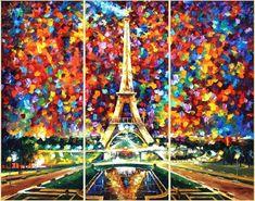 PARIS OF MY DREAMS - CITYSCAPE Pintura al óleo sobre lienzo por Leonid Afremov…