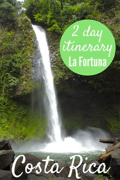 Adoration 4 Adventure's 2 day itinerary for La Fortuna, Costa Rica. Including visits to La Fortuna waterfall, Arenal Volcano and Baldi Hot Springs.