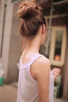 when my hair gets long..  #hairbun #updo