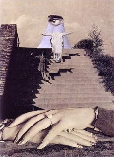 Collage 190 by Karel Teige, 1941 Collages, Collage Artists, Photomontage, Matthieu Bourel, Surrealist Collage, Love Collage, Photography Collage, Creepy Pictures, Art Birthday