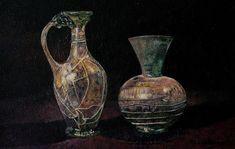 Bodegón realizado al óleo, con espátula. Medidas 56x74. Venta de cuadros y tapices. #vasijas #oleo #bodegon #espatula #venta #venta de cuadros