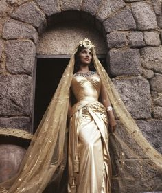 Still of Gina Lollobrigida in Solomon and Sheba 1959 - an absolutely fantastic costume. Costumes by Ralph Jester. Gina Lollobrigida, Solomon And Sheba, King Solomon, Egyptian Wedding, Robes Glamour, Egyptian Fashion, Egyptian Costume, Ancient Egyptian Dress, Italian Actress