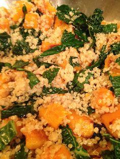 Butternut squash, Tuscan kale & quinoa sauté.