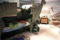 dinosaur bed -boys room