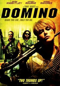 """Domino (2005) Tony Scott pilots this intriguing action-thriller based on the life of Domino Harvey (Keira Knightley) -- the offspring of actor Laurence Harvey and model Paulene Stone -- who eschews a career in the fashion industry for a life as a bounty hunter. The film's all-star supporting cast includes Mena Suvari, Lucy Liu, Christopher Walken and Dabney Coleman, with """"Beverly Hills, 90210"""" alumni Ian Ziering and Brian Austin Green playing themselves."""