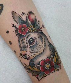 Rabbit Tattoo by Adriana Maluquer