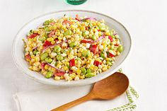 Fire up the grill for this grilled corn edamame Salad! Our Edamame & Grilled Corn Salad is a great side dish to bring to cookouts and parties.