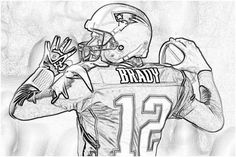 Tom Brady Coloring page   Coloring Pages   Football ...