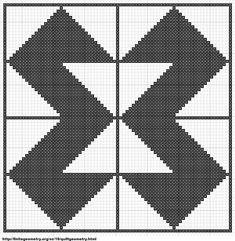 Free Cross Stitch Geometric Pattern 5 by ~carand88 on deviantART