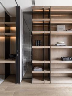Regal Design, Küchen Design, House Design, Japanese Interior, Modern Interior, Interior Architecture, Shelving Design, Bookshelf Design, Cabinet Design