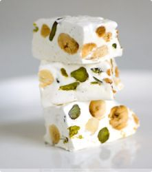 Italian Christmas Sweet. Torrone. Melt in your mouth nougat and honey.