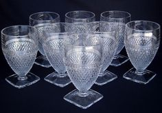 Vintage Depression Glass Anchor Hocking Miss America Clear 8 Water Goblets   eBay
