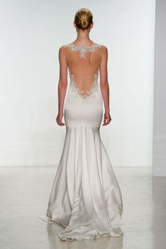 Backless Dress with Lace Detail Kenneth Pool Spring 2015 bridal collection