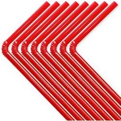 50 Red Plastic Flexable Straws £1.15 plus 66p delivery
