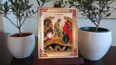 The Resurrection (Russian Style icon - SF Series) Russian Style, Russian Fashion, Gold Background, Religious Icons, Art Store, Christianity, Carving, Canvas, Crafts