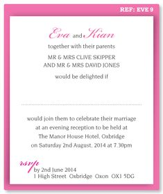 Wording For Invitations
