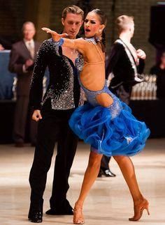 Kyle Taylor and Polina Shklyaeva - ballroom dance champions Latin Ballroom Dresses, Ballroom Dancing, Latin Dresses, Ballroom Costumes, Dance Costumes, Country Tanz, Bailar Swing, Line Dance, Tango Dance