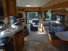 nice interior of a Jayco 5th wheel