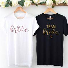 Bachelorette Party Gifts, Bride Shirts, Crystal Rose, Team Bride, Party Shirts, Rose Design, T Shirts For Women, Bella Canvas, Spun Cotton