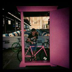 nice to meet you, Doraemons `  #fixie #fixedgear #night #doraemon #door #pink #many - @robert_kawai | Webstagram