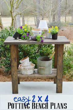 Free woodworking plans to build a potting bench - Potting Bench Plans